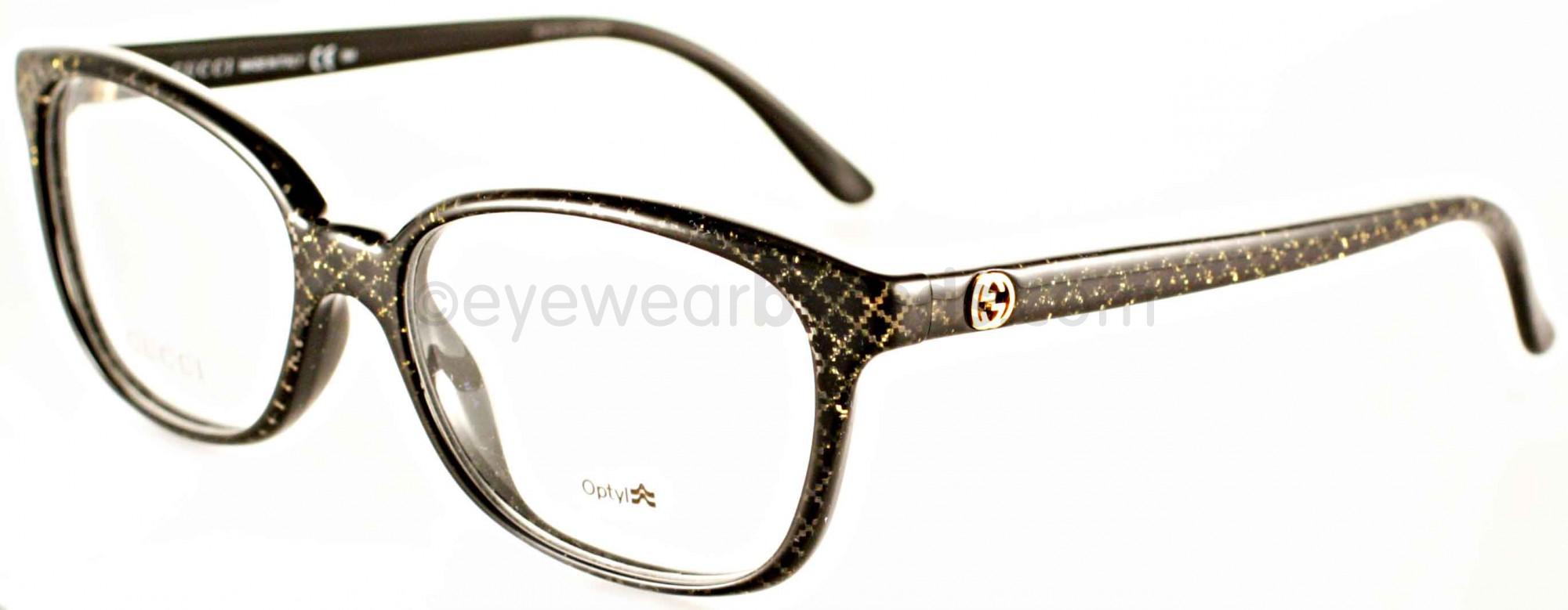 543cdaadb0d Gucci GG3629 DXF Black Glitter
