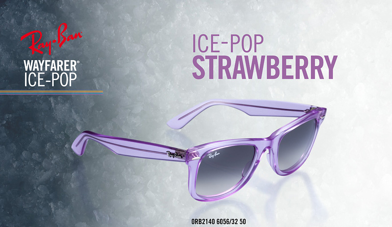 "ee3254ce51 New Ray-Ban Wayfarers ""Ice-Pop"""